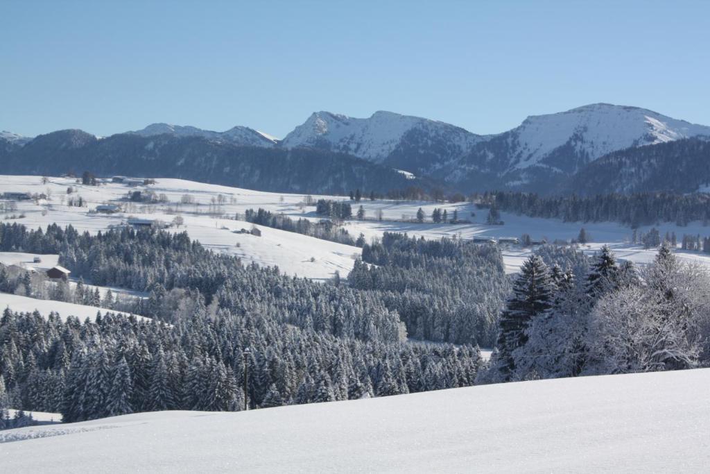 Ferienwohnung Nagelfluh Allgäu during the winter