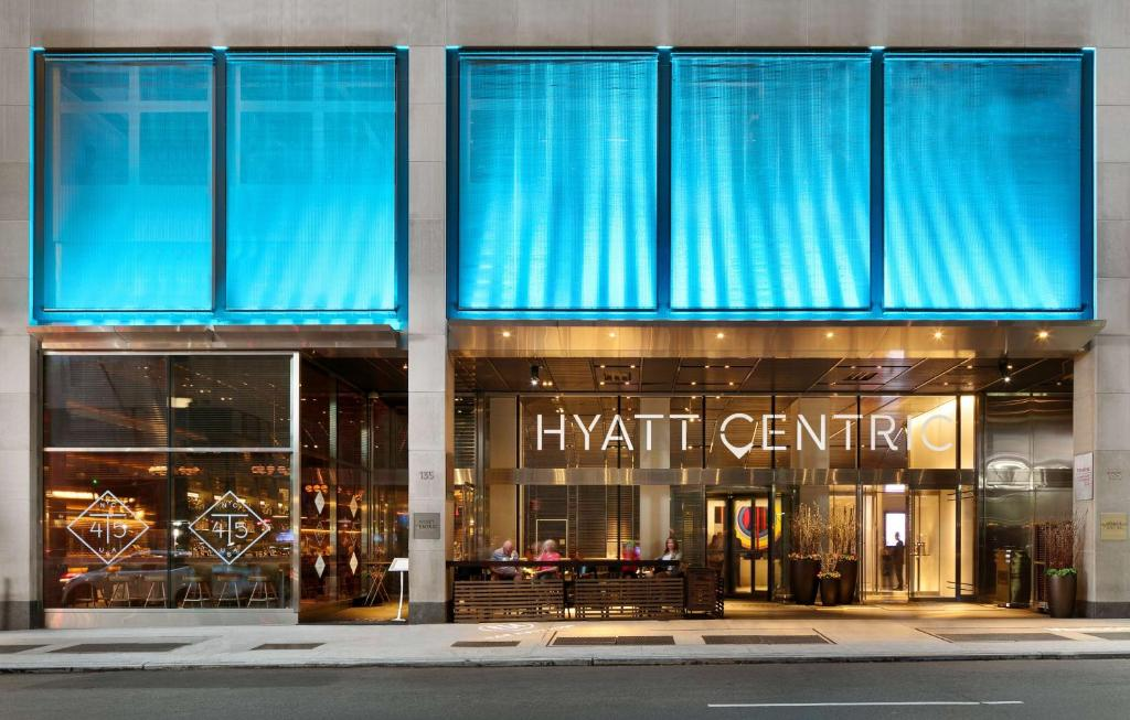 The facade or entrance of Hyatt Centric Times Square New York