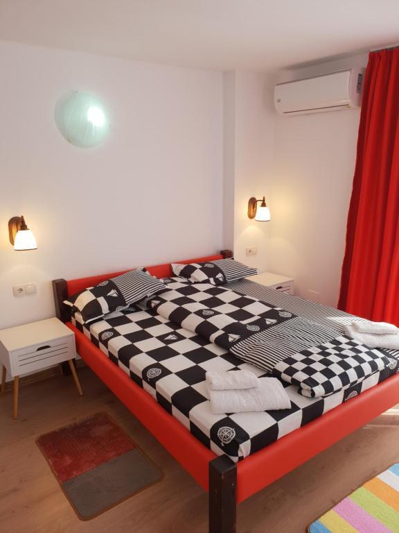Cama o camas de una habitación en Guest House Andrei