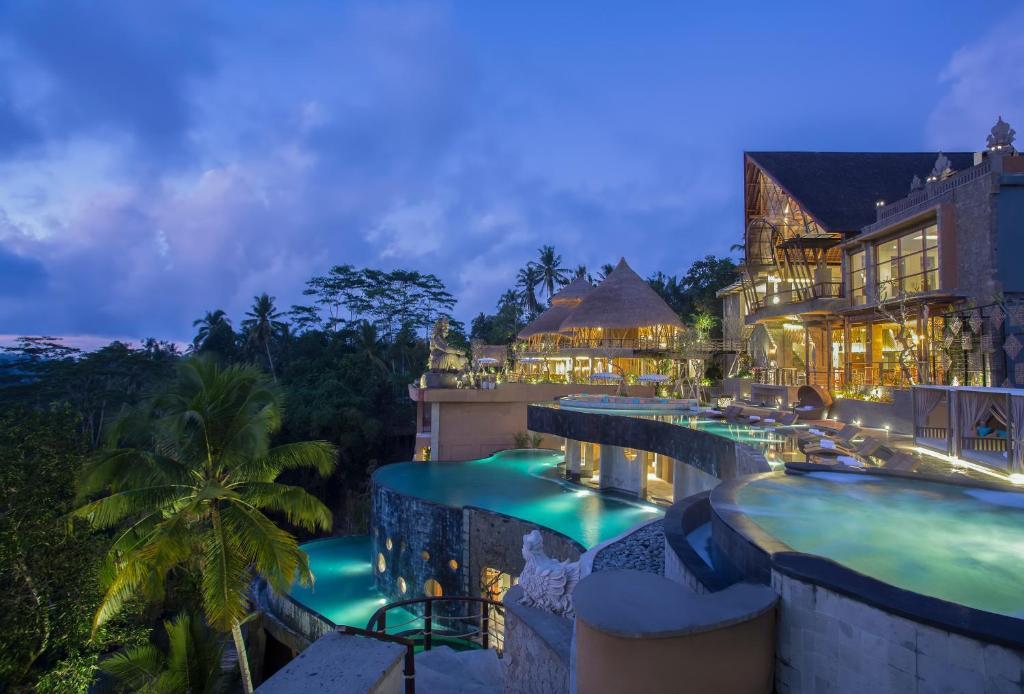 The swimming pool at or near The Kayon Jungle Resort by Pramana