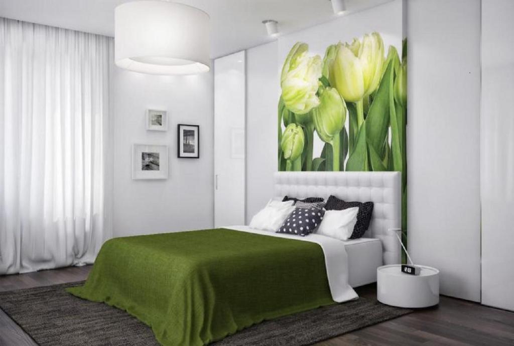 Кровать или кровати в номере FlatComfort Nezavisimosti 44