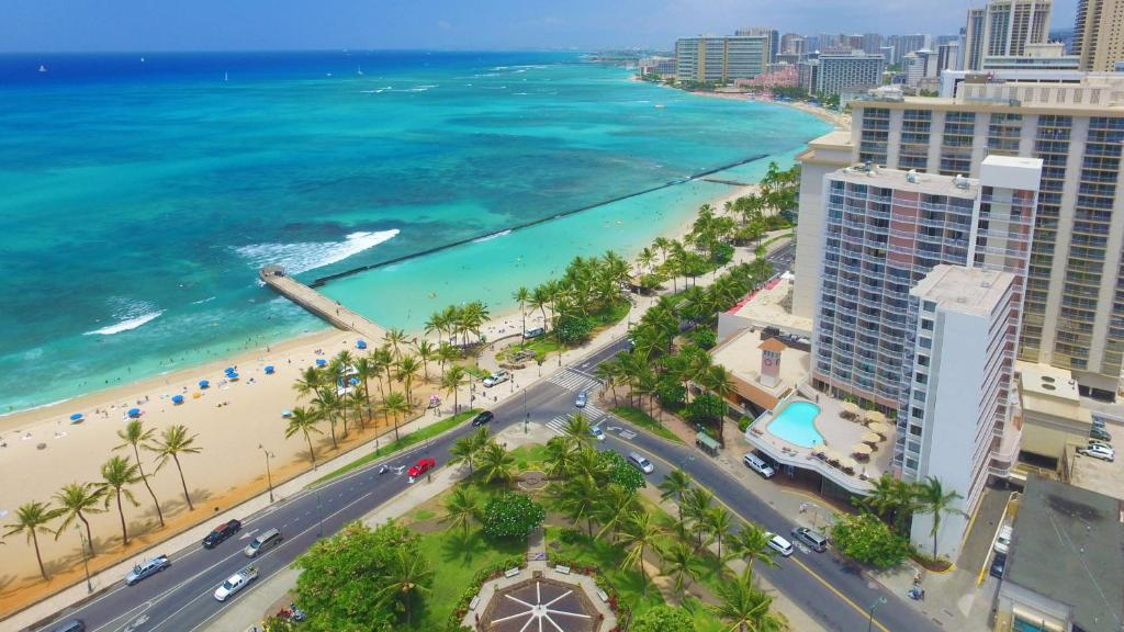 A bird's-eye view of Park Shore Waikiki