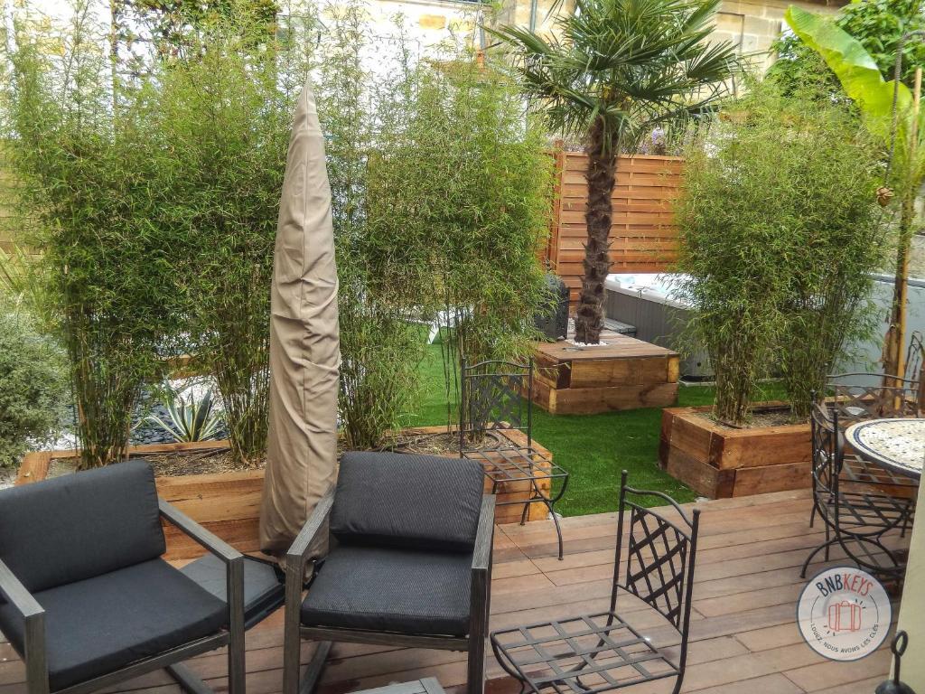 Mobilier De Jardin Merignac maison de ville à bordeaux avec jardin et jacuzzi, bordeaux