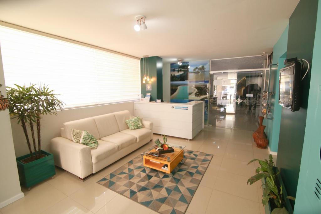 The lobby or reception area at Pousada Capital das Águas