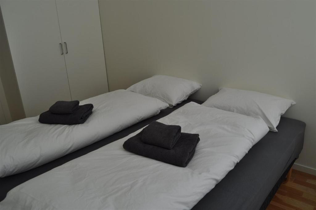 Ein Bett oder Betten in einem Zimmer der Unterkunft Bølgen - Overnatting Utsira