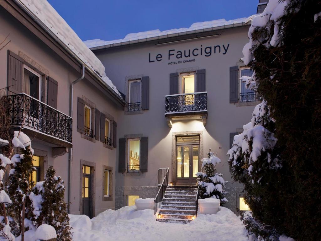 L'établissement Le Faucigny - Hotel de Charme en hiver