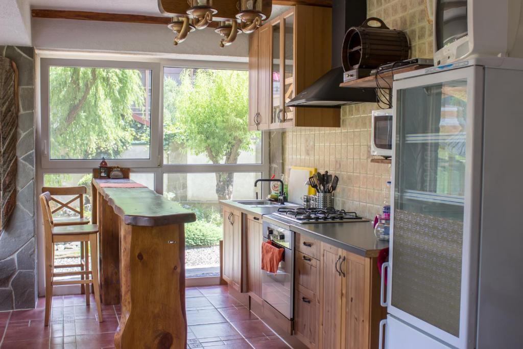 Кухня или мини-кухня в Отель Рай-Ski-Домик
