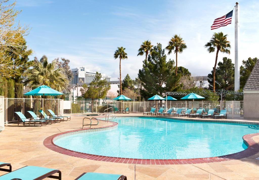 The swimming pool at or near Residence Inn by Marriott Las Vegas Convention Center