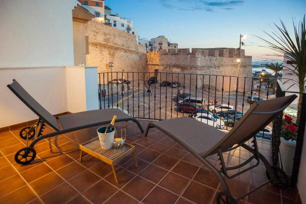 A balcony or terrace at Hotel Boutique Barra Alta (Adults Only)