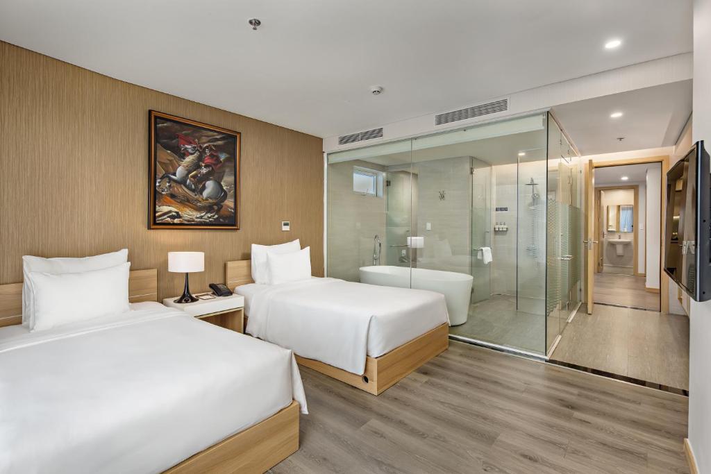 Phòng Suite Premium 2 Giường Đơn Nhìn Ra Sông