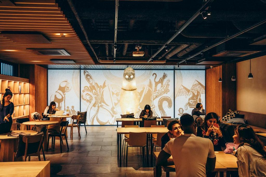 A restaurant or other place to eat at WeBase Kyoto