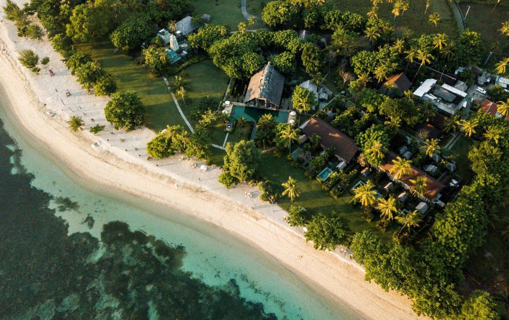 A bird's-eye view of Hotel Tugu Lombok