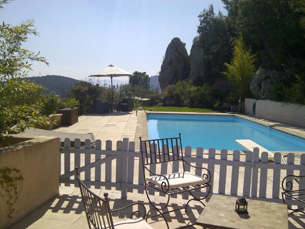 The swimming pool at or close to Villa Manon