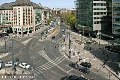 Vista generica su Budapest o vista sulla città dall'interno dell'hotel