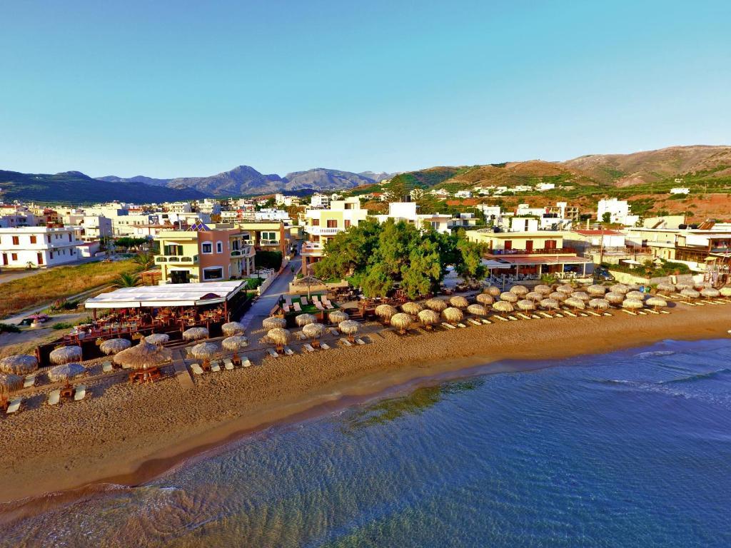 A bird's-eye view of Maria Beach Hotel