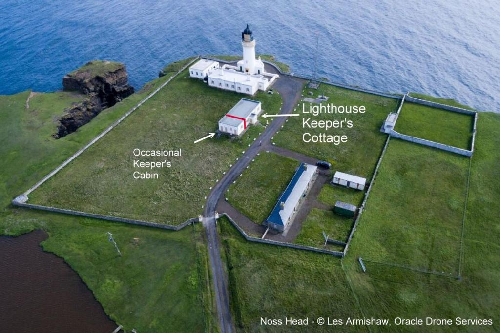 A bird's-eye view of The Lighthouse Keeper's Cottage