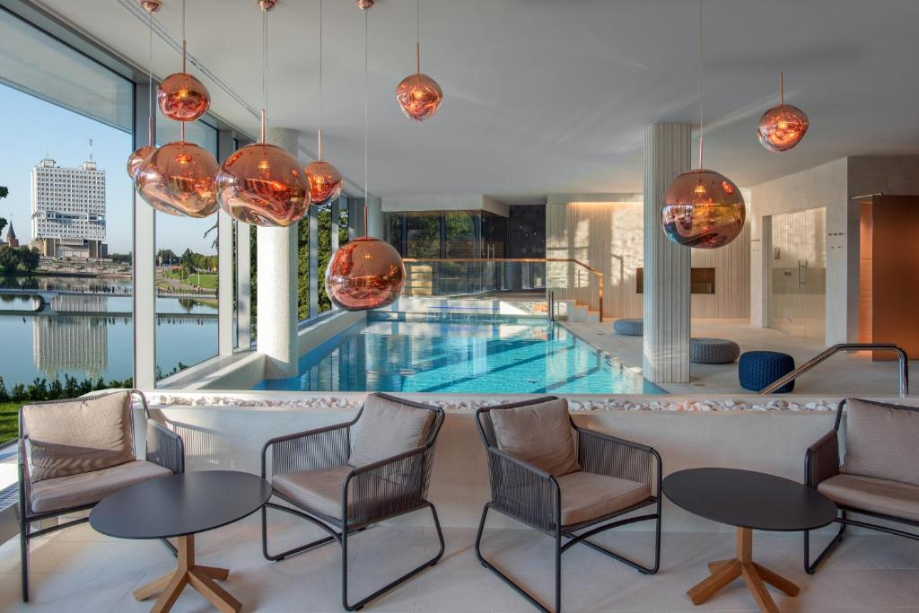 The swimming pool at or near Crystal House Suite Hotel & SPA