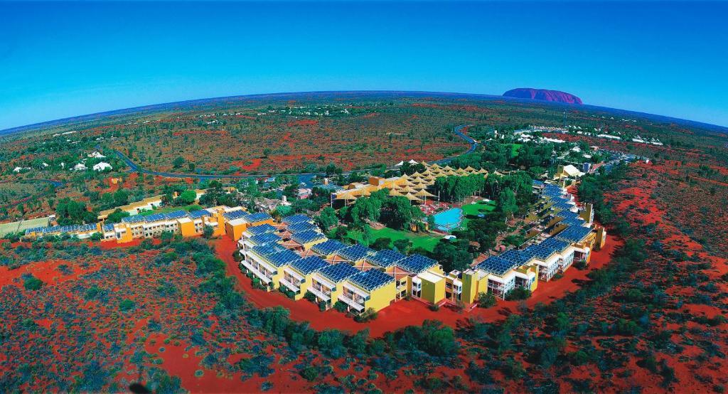 A bird's-eye view of Desert Gardens Hotel
