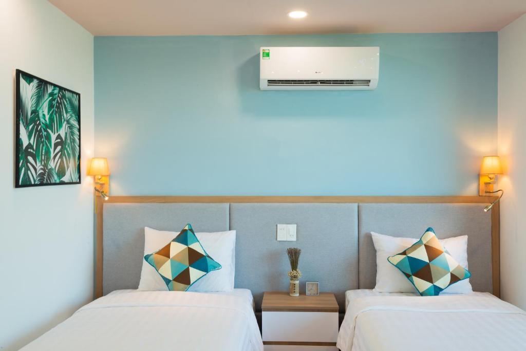 Phòng Premium giường đôi hoặc 2 giường đơn nhìn ra đại dương