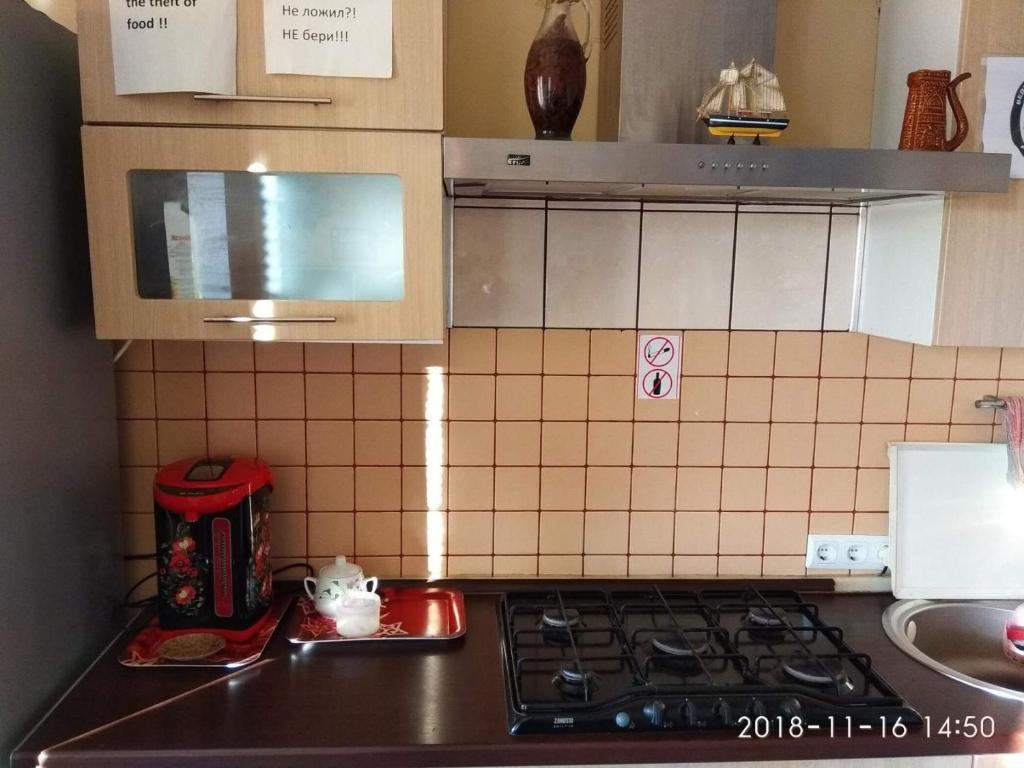 Кухня или мини-кухня в Voronezh Dom 42 k 3 arenda koikomesta