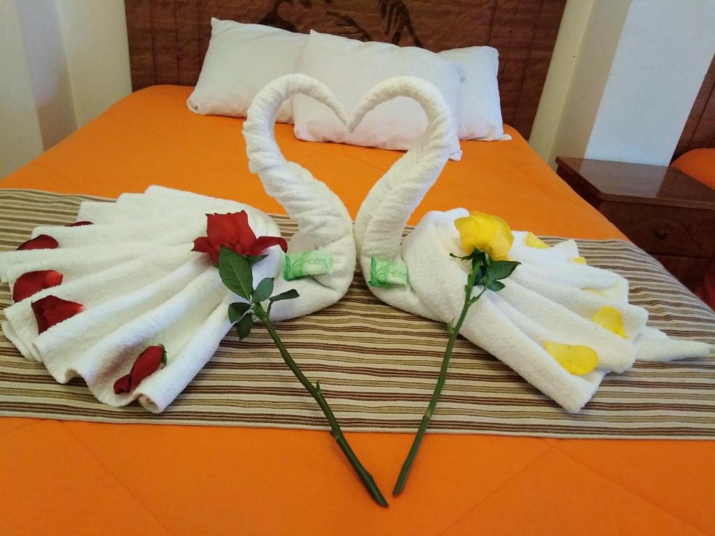 Cama o camas de una habitación en Inkas Machupicchu Inn