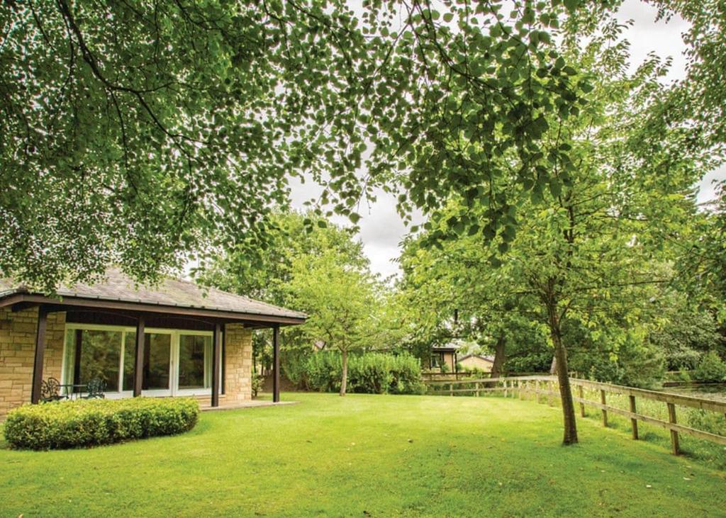 A garden outside Slaley Hall Lodges
