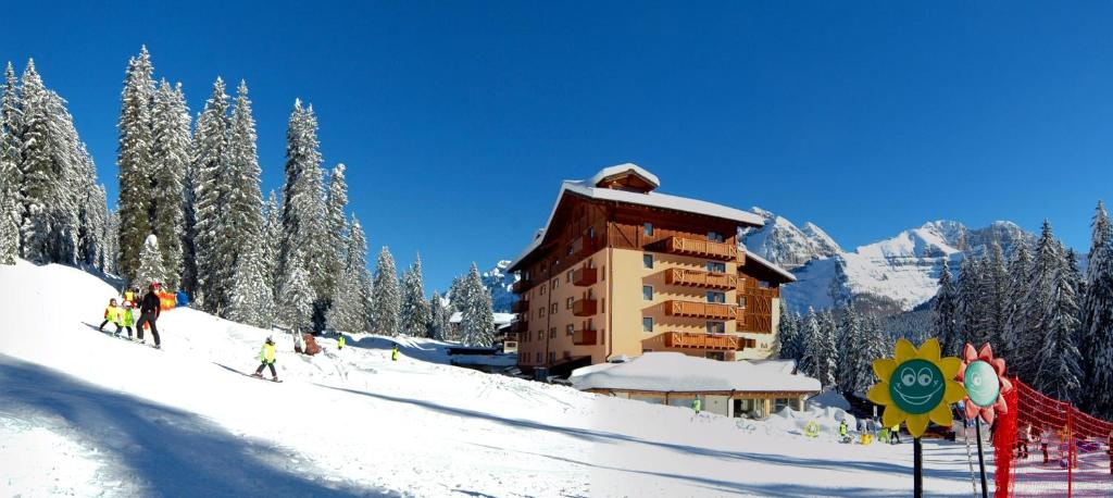 Carlo Magno Hotel Spa Resort during the winter