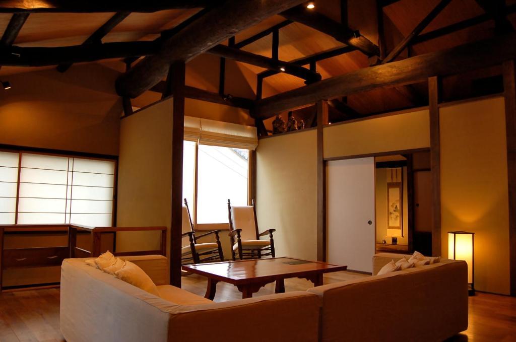 A seating area at Iori Machiya Stay
