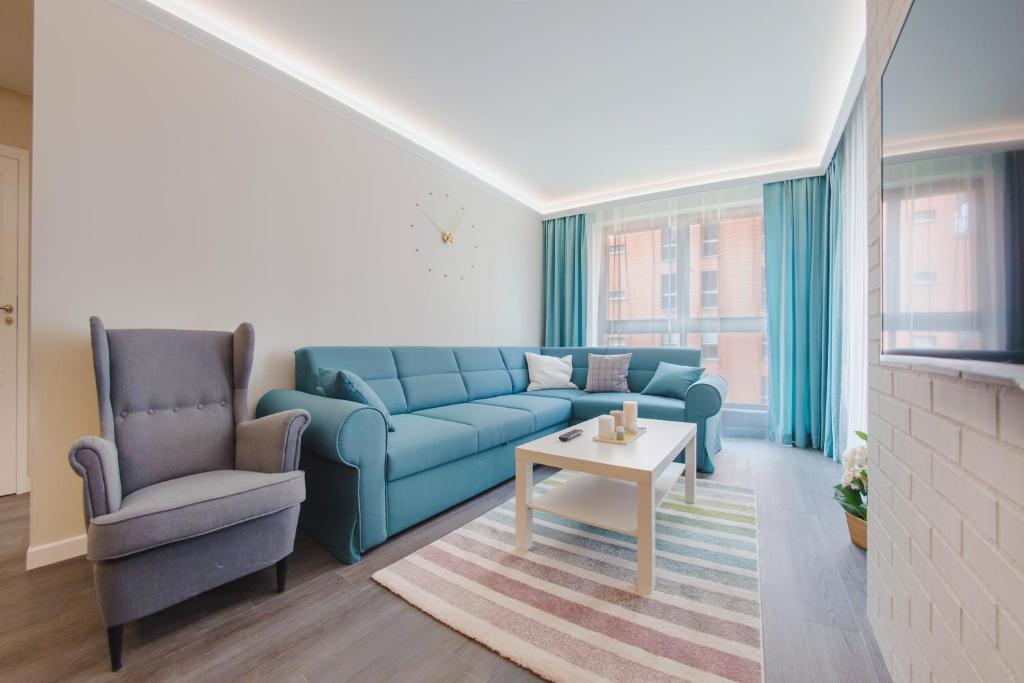 Et sittehjørne på Apartamenty Sun & Snow Aura