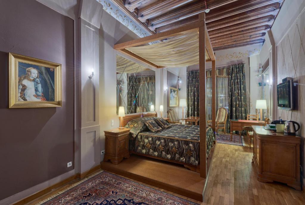 Cama o camas de una habitación en Hotel Wentzl