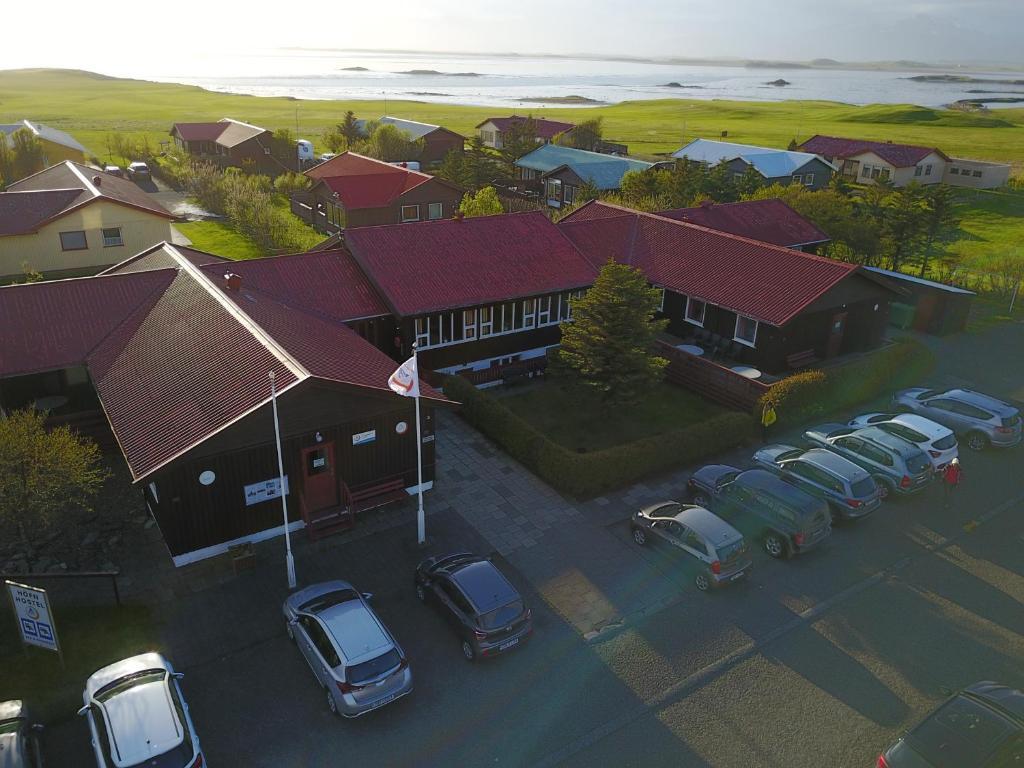 Letecký snímek ubytování Höfn Hostel