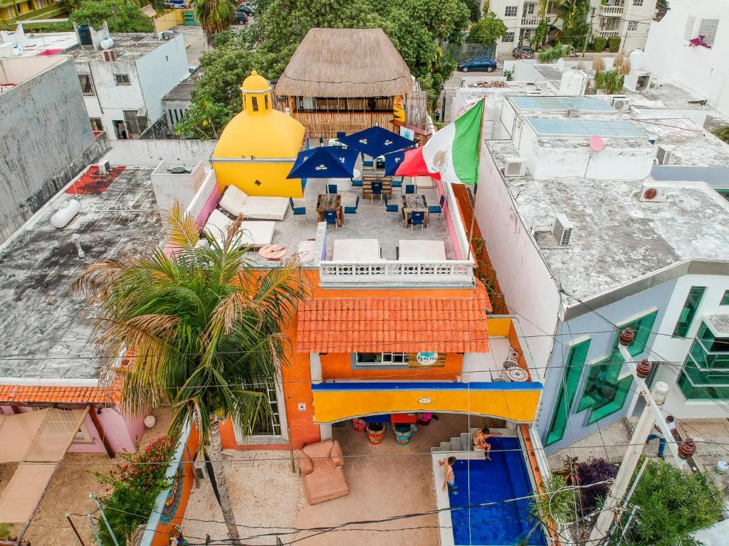 Letecký snímek ubytování Agavero Hostel