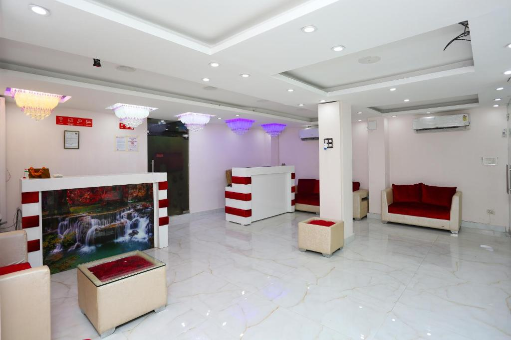The lobby or reception area at Aamantran By Sampari Hospitality
