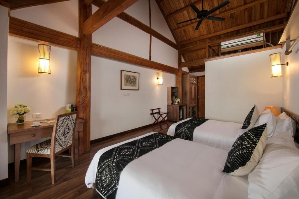 Phòng Superior 2 giường đơn nhìn ra Hồ nước
