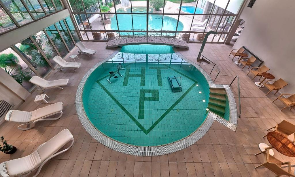 A view of the pool at Hotel Terme Patria or nearby