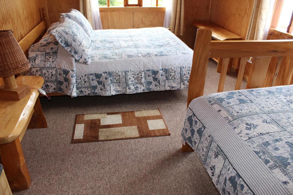 Cama o camas de una habitación en Los Mañíos Del Queulat