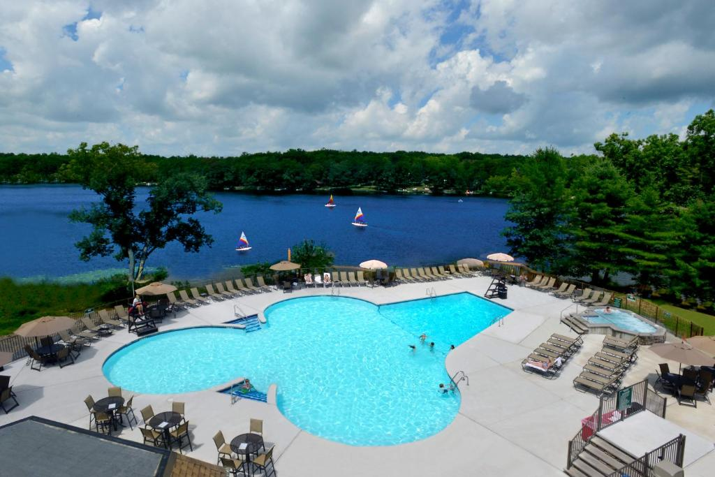 A view of the pool at Woodloch Pines Resort or nearby