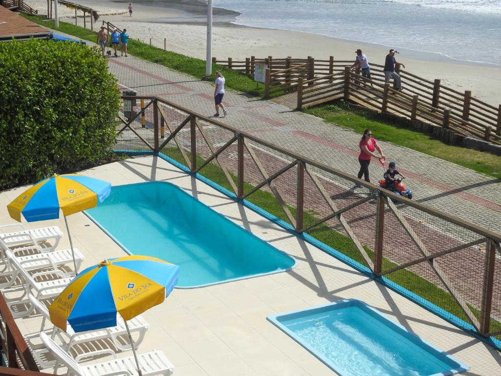 A view of the pool at Vila do Sol Apartamentos or nearby