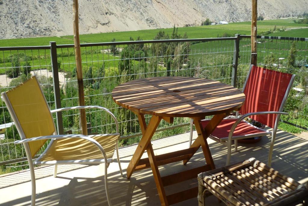 A balcony or terrace at Cabañas Utopia