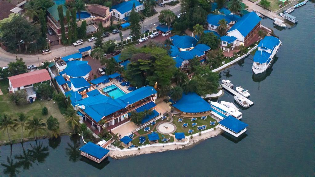A bird's-eye view of Hotel Tilapia