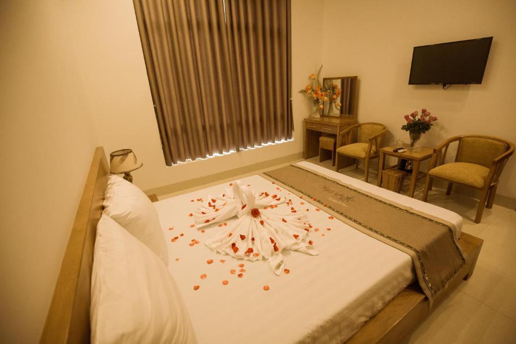 Phòng Có Giường Cỡ Queen Nhìn Ra Vườn