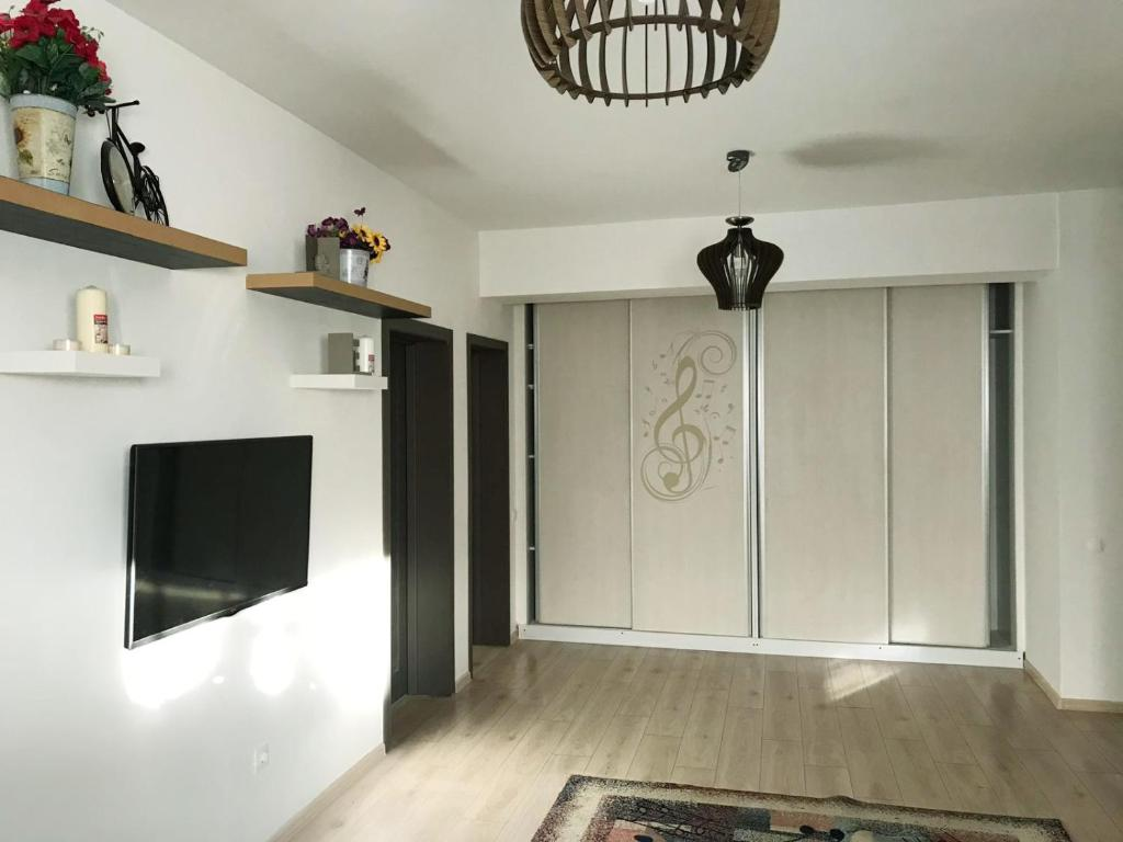 A television and/or entertainment center at Music Apartment