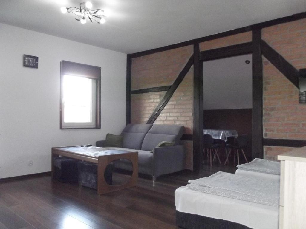 Postel nebo postele na pokoji v ubytování Kwatery 42