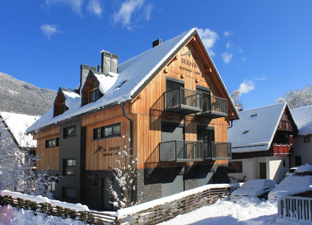 Apartments and Rooms Bernik im Winter