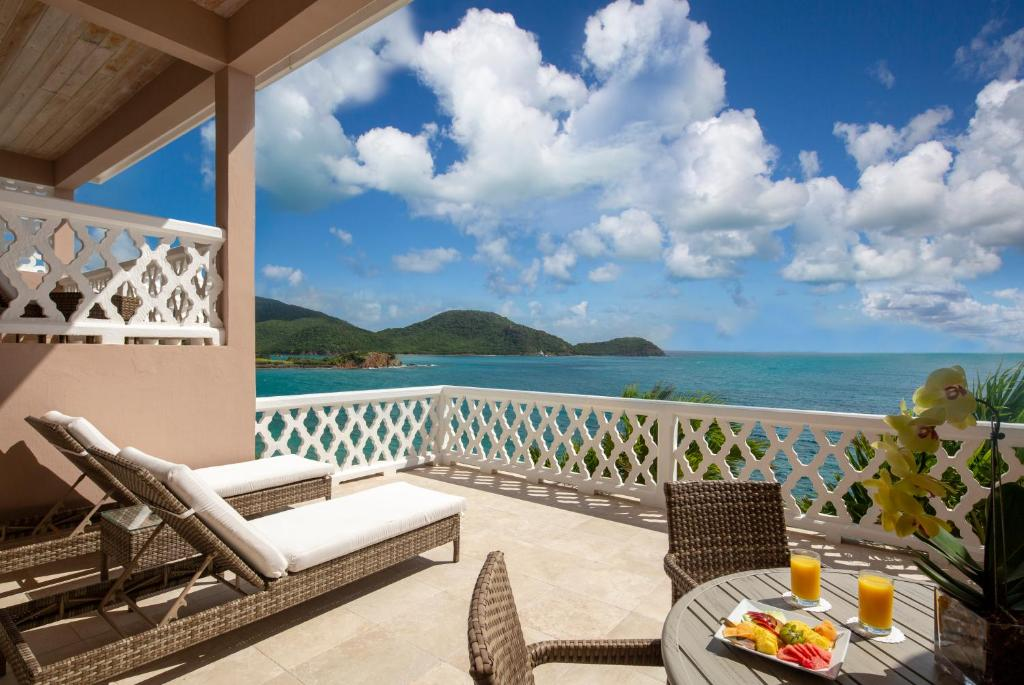 A balcony or terrace at Curtain Bluff - All Inclusive
