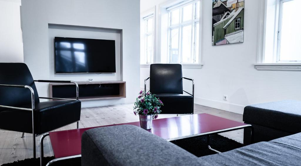 Sjónvarps- og/eða afþreyingartæki á Luna Apartments - Laugavegur 37