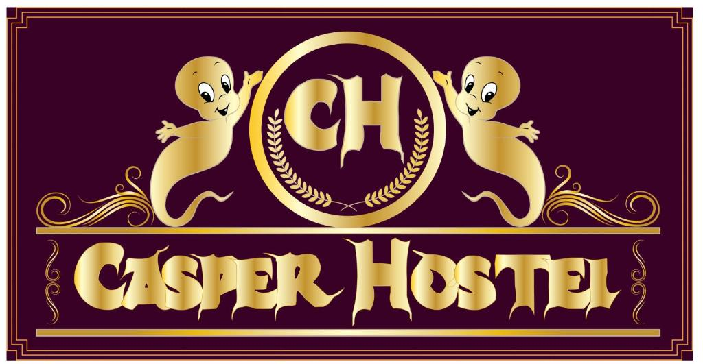 The logo or sign for the hostel