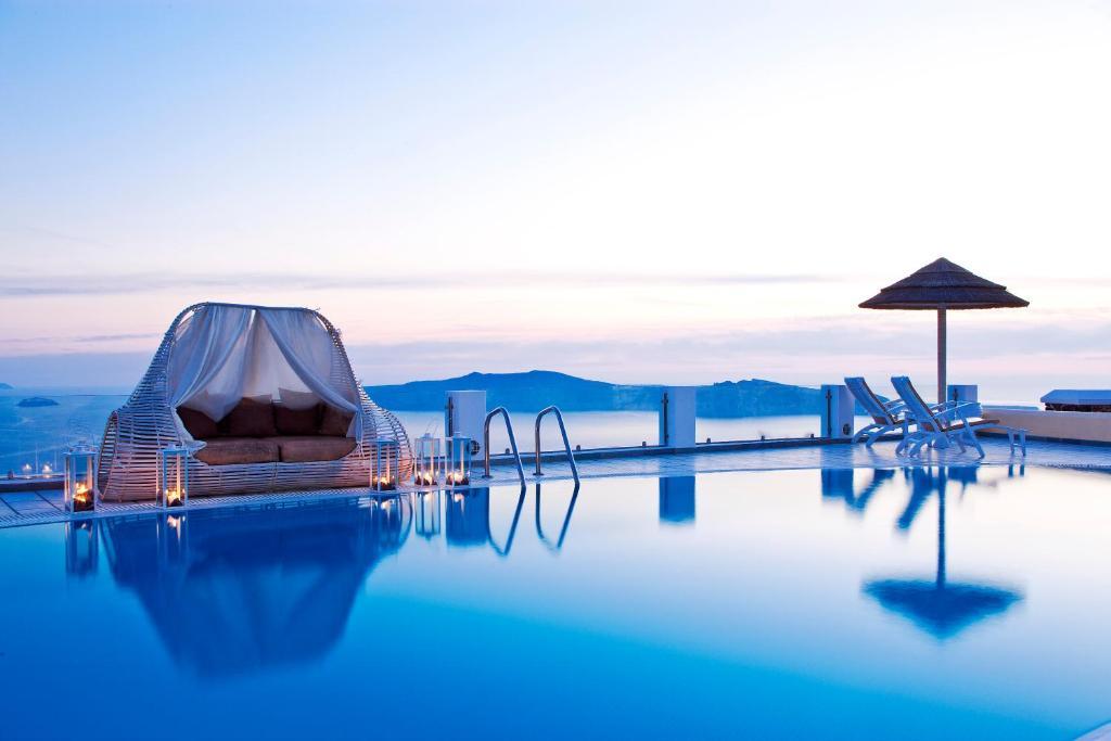 The swimming pool at or near Santorini Princess Spa Hotel