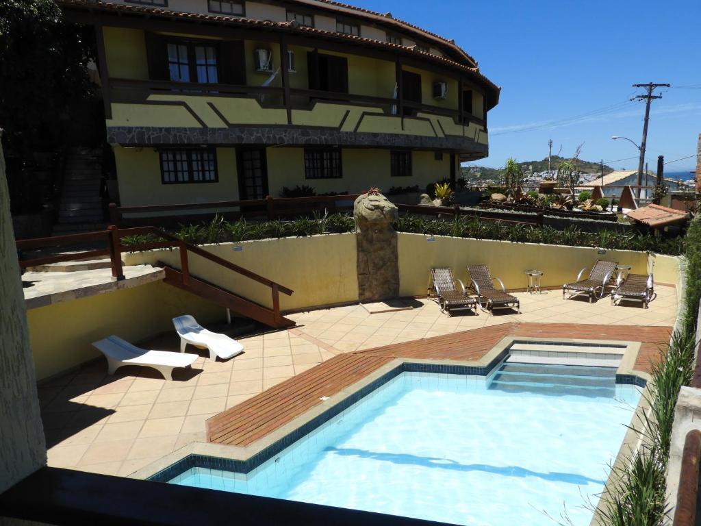 A piscina localizada em Pousada dos Atobas ou nos arredores
