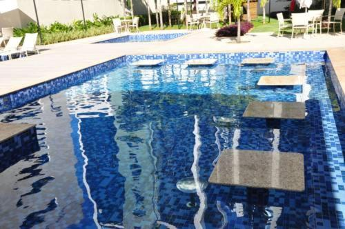 The swimming pool at or close to Studio 15 top Mandarim Salvador Shopping